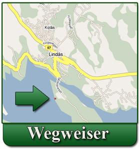 Ausführliche Diagrammrichtungen von Bergen zum Spjeldnes Ferienhaus in Lindås, Norwegen